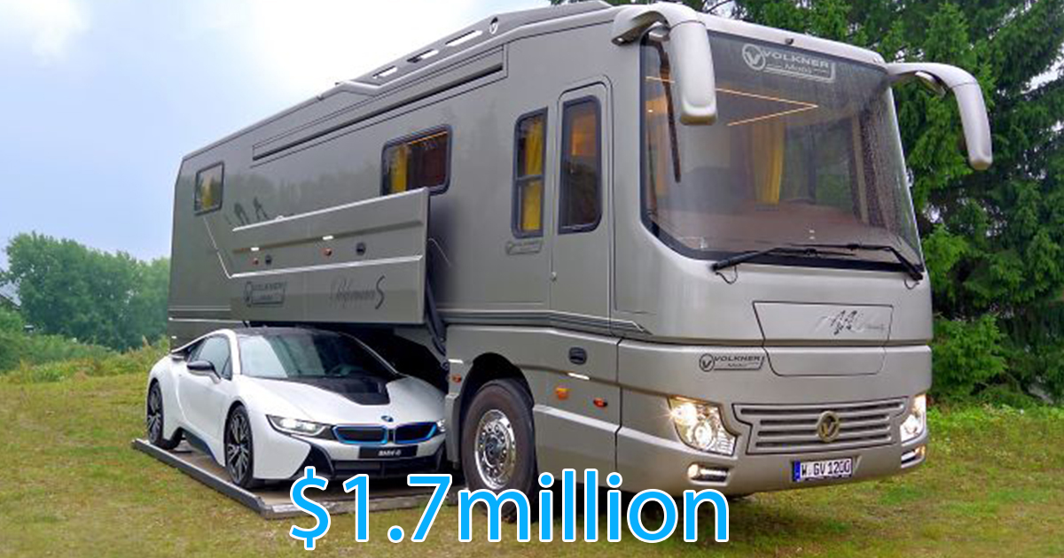 This 17 Million Motorhome May Look A Typical Bus But Wait Until You Step Inside