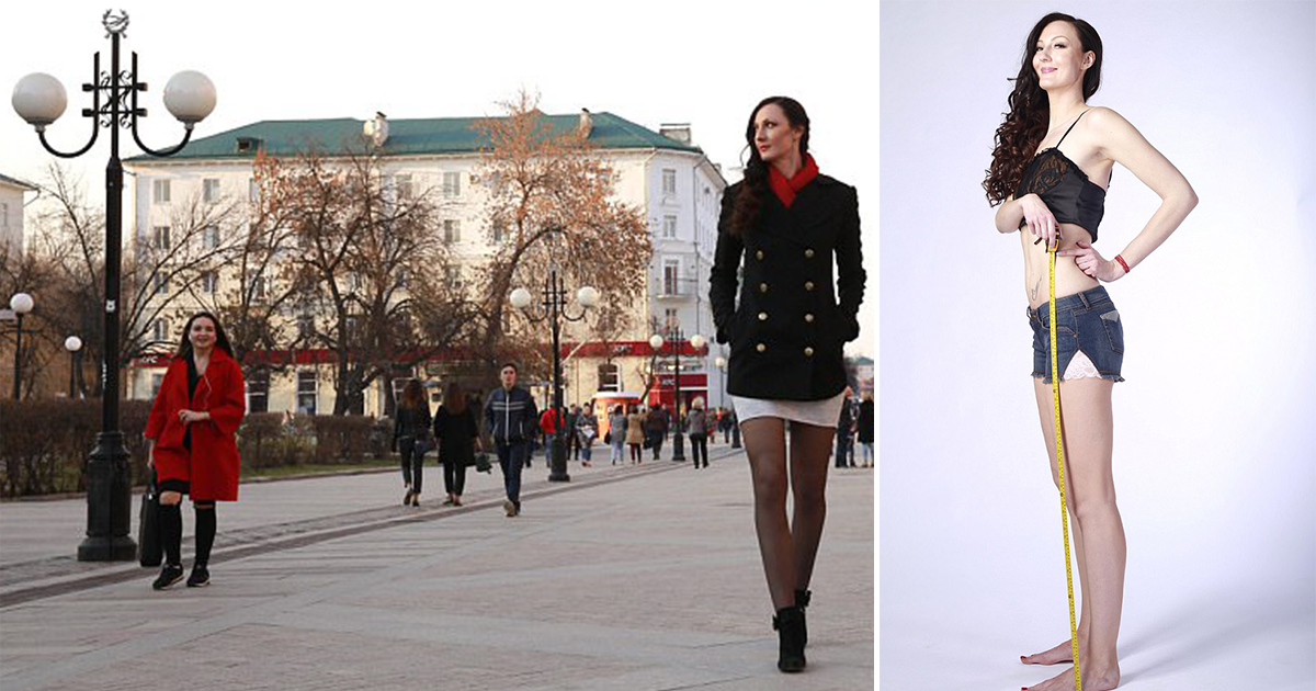 6 ft 9 in Russian beauty is eyeing world record as the