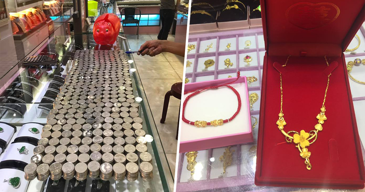 Romantic Husband Saves Up Coins For Two Years To Buy A Surprise Birthday Gift His Wife And The Netizens Are Impressed With Dedication