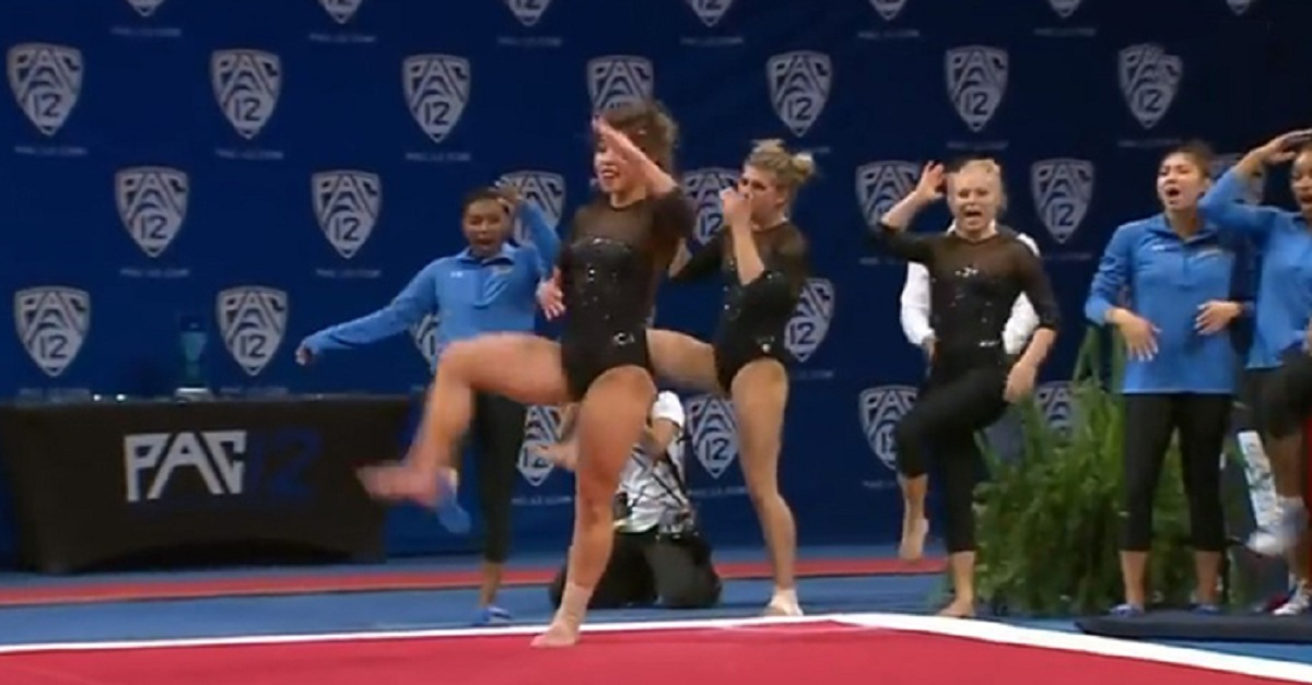 This talented UCLA gymnast achieves perfect score for her epic Michael Jackson's floor routine - Good Times