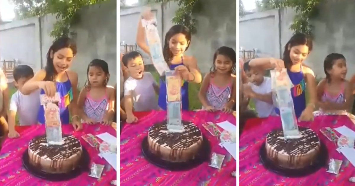 Girl Gets The Best Of Both Worlds In A Form Of A Birthday Cake And