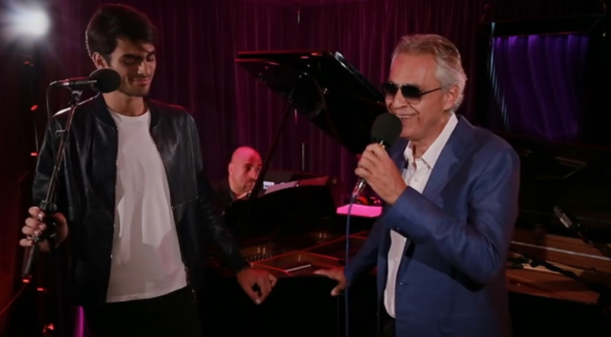 Andrea Bocelli and son Matteo perform a powerful and