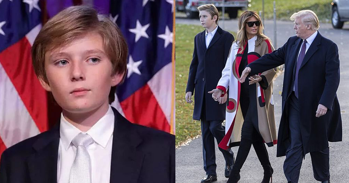 Barron Trump Is Just 13 But He Is Almost As Tall As His