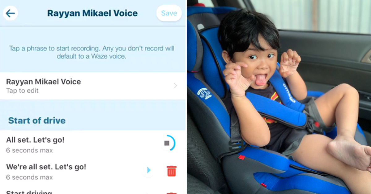 Dad records son's voice for GPS navigation app and it is the most